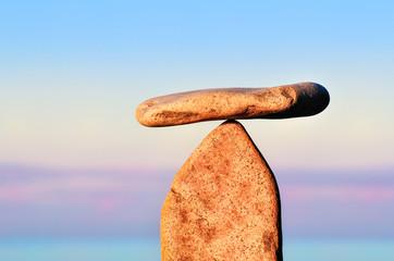 Balance of two stones