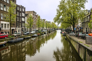 Amsterdam, Netherlands. Canal street houses