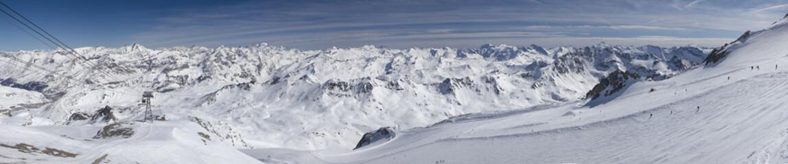 "Ski run ""Diebold"" from Roche de Bellevarde 2827 m"