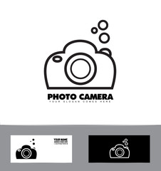 Black and white photography photo camera