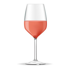 Glass of rose wine.