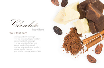 ingredients for сooking  homemade chocolate