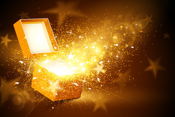 Wall Mural - Golden box