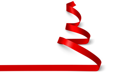 Christmas Tree ribbon. Vector
