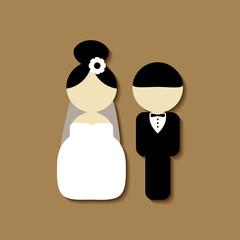 Set of vintage style elements for wedding cards. Wedding invitation, card, banner, tag.