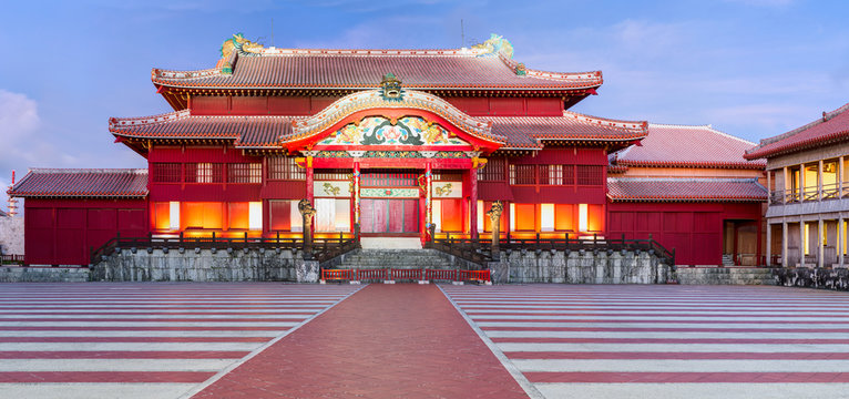 Shuri Castle. Was clearly in use as a castle during the Sanzan period (1322 - 1429)