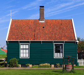 Typical Dutch house in Giethoorn.