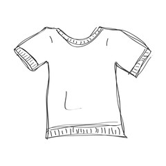 Simple doodle of a tshirt