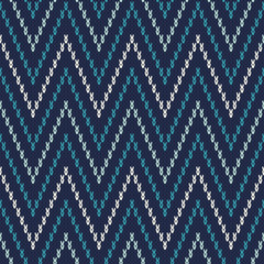 Chevron Fair Isle Pattern. Seamless Knitting Ornament