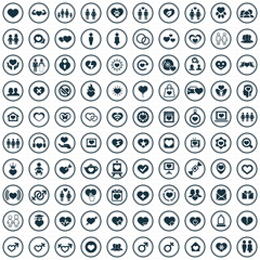 love 100 icons universal set