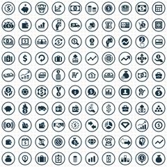 money 100 icons universal set