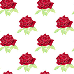 Roses seamless pattern background