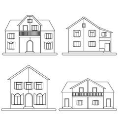 Houses vector set