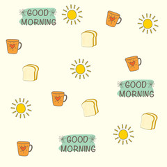 Good morning object seamless background.
