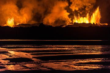 Holuhraun Vulkan Eruption in Island