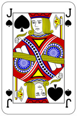 Poker playing card Jack spade