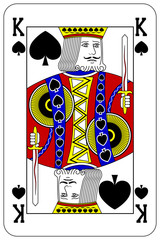 Poker playing card King spade