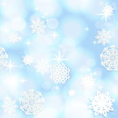 Blue shining seamless Christmas background