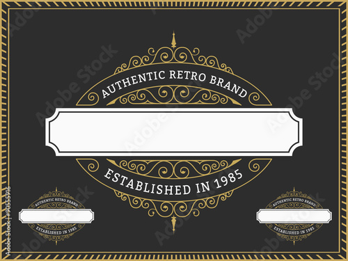 Vintage badge and labels brand name design for banner invitation vintage badge and labels brand name design for banner invitation logo emblem stopboris Choice Image