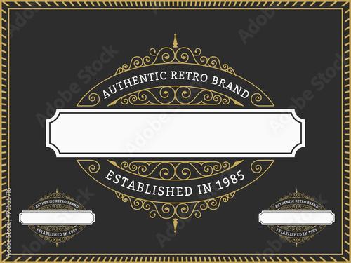 Vintage badge and labels brand name design for banner invitation vintage badge and labels brand name design for banner invitation logo emblem stopboris Images