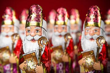 Sinterklaas . Dutch chocolate figurine Wall mural