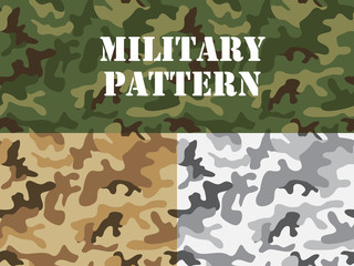 Military camouflage pattern, For textile garment, T-shirt, printing, Background, wallpaper, decoration, Vector illustration