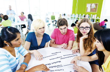 Students University Studying Project Communication Concept