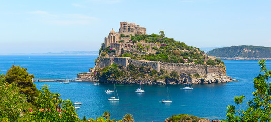 Aragon castle. Hieron I of Syracuse built the fortress in 474 B.C. Ischia Island Wall mural