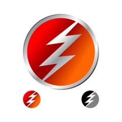 Fast Red Lightning Emblem