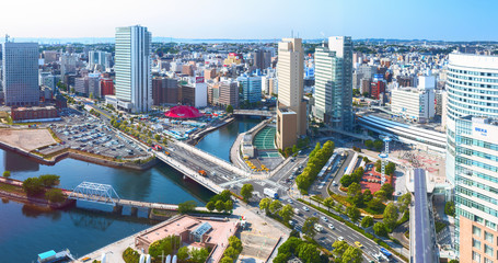 Downtown of Yokohama City. It is the capital city of Kanagawa Prefecture
