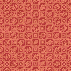 Seamless pattern indian ornament
