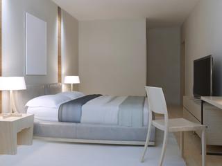 Hotel room minimalist style