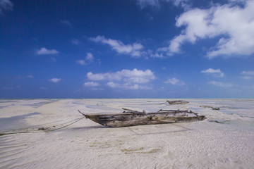 Dhow at low tide