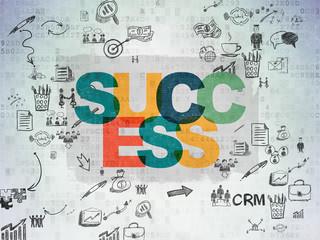 Finance concept: Success on Digital Paper background