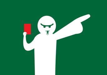 Arbitre siffle le carton rouge