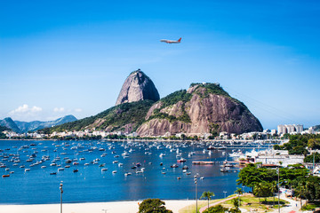View of Rio De Janeiro and Sugar Loaf, Brazil . Wall mural