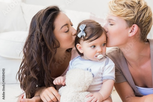 Lesbian Couple Kissing 22