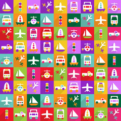 Web icons modern design for mobile shadow, icon set transport