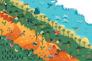 Biodiversidad desierto bosque selva oceano tundra