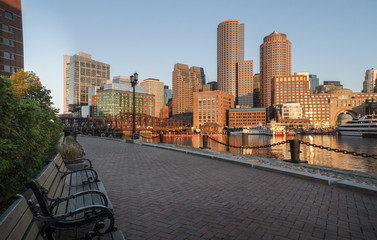 Along Boston harbor