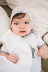 Beautiful cute baby girl with hat