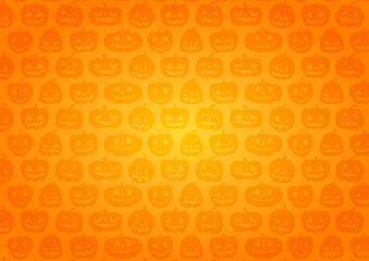 ハロウィン:かぼちゃの背景(オレンジ グラデーション)横