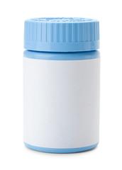 Blue Pill Bottle
