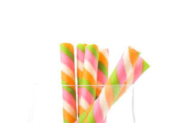 rainbow wafer stick on white