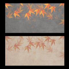 秋のバナーまたは金券の背景素材