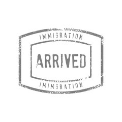 Immigration Arrived Stamps