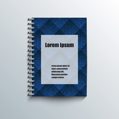 Notepad template with abstract background.