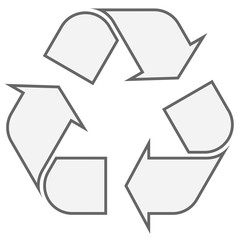 Recycling sign gray