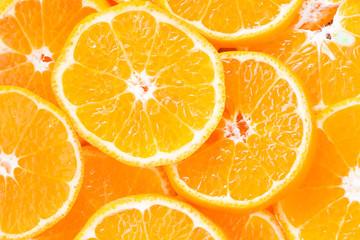 Orange slice for healthy food