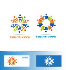 Team teamwork logo icon concept